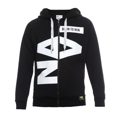 Hoodie Navi Born to Win Black