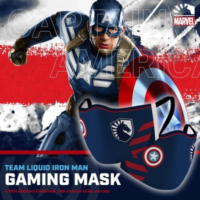 Gaming Masker - Team Liquid CAPTAIN AMERICA